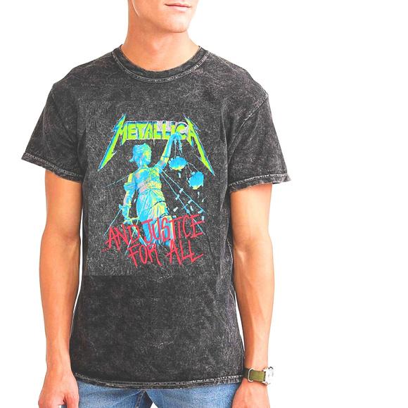 4b8483bc7 Metallica Shirts | Mineral Wash Rock Metal Tshirt L Nwt | Poshmark